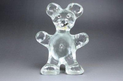 画像1: 北欧 ガラスオブジェ/クリスタル ベア