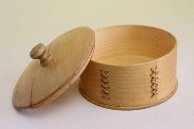 画像3: 北欧 ウッドボックス/蓋付き 丸木箱