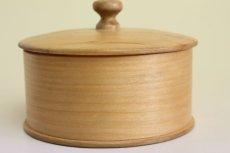 画像5: 北欧 ウッドボックス/蓋付き 丸木箱 (5)