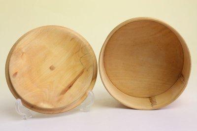 画像1: 北欧 ウッドボックス/蓋付き 丸木箱