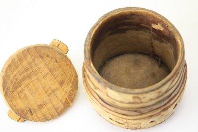 画像1: 北欧雑貨 白樺ミニボックス/丸