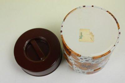 画像2: 北欧雑貨ヴィンテージ/ブリキ缶 花柄