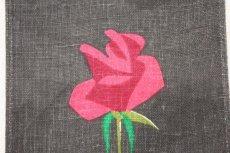 画像3: 北欧 プリントタペストリー/一輪のバラ (3)