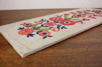 画像1: 北欧刺繍 タペストリー/パネル フラワー