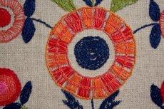 画像5: 北欧刺繍 タペストリー/パネル フラワー (5)