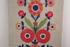 画像3: 北欧刺繍 タペストリー/パネル フラワー (3)