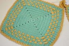 画像2: 北欧 手編みの鍋敷き/ポットホルダー (2)