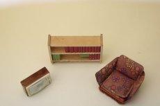 画像5: Lundbyドールハウス/ミニチュア家具 リビング3点セット (5)