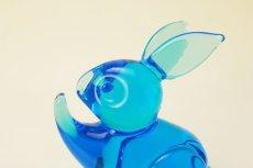 画像10: FM Konstglas Ronneby Sweden Rabbit/クリスタル ガラスの碧いうさぎ (10)