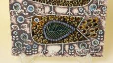 画像7: LISA LARSON UNIK Faglar/リサ・ラーソン 二羽の鳥  陶板 (7)