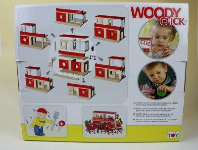 画像1: 北欧デンマークトーイ/WOODY CLICK 消防署