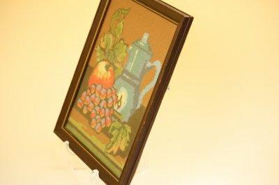 画像2: 北欧刺繍 フルーツ/木製フレーム付き