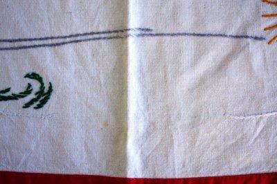 画像3: 北欧のX'mas 刺繍クロス もみの木とおじいさん