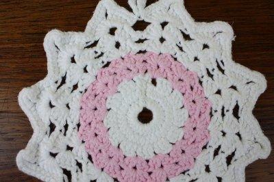 画像1: 北欧 手編みの鍋敷き/ポットホルダー