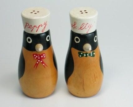 画像1: 北欧調味料いれ ソルト&ペッパー ペンギン  (1)