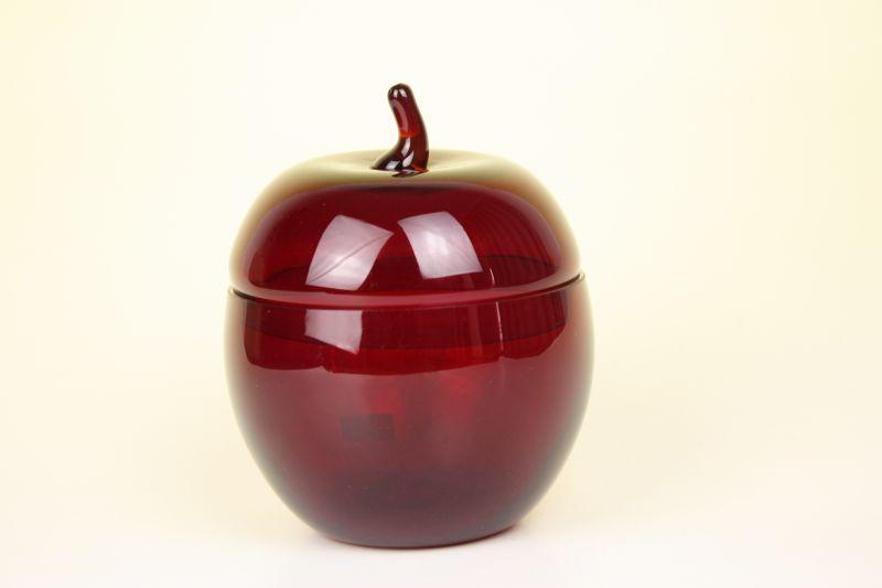 SWEDEN ガラスオブジェ/リンゴの容器                                                                                SWEDEN ガラスオブジェ/リンゴの容器                                        [Agl-86]