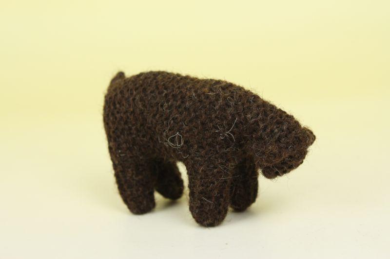 画像1: 北欧  ニットオブジェ 羊(茶)  (1)