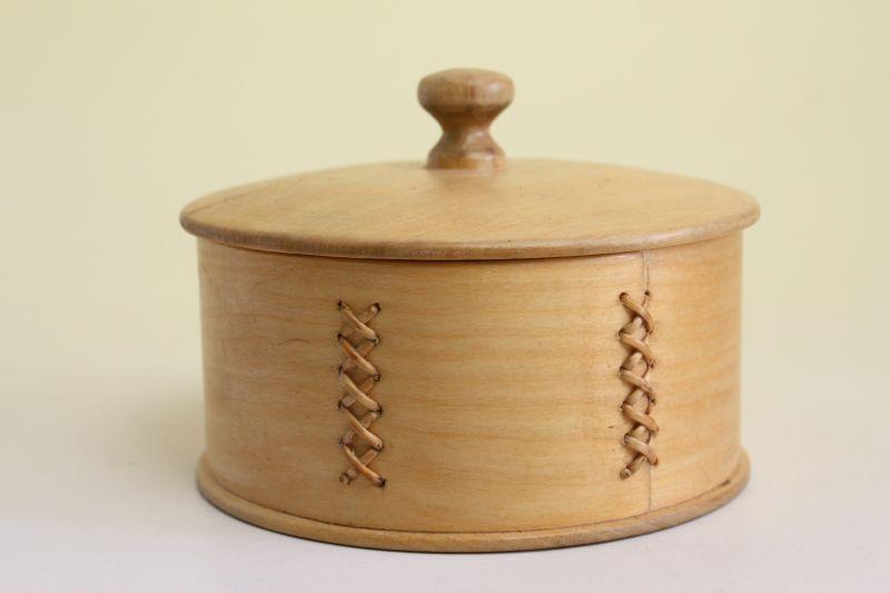 画像1: 北欧 ウッドボックス/蓋付き 丸木箱 (1)