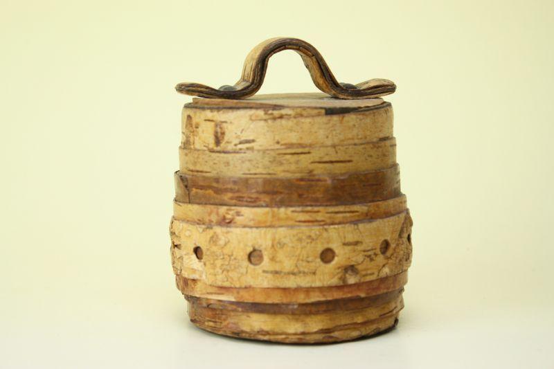 画像1: 北欧雑貨 白樺ミニボックス/丸 (1)