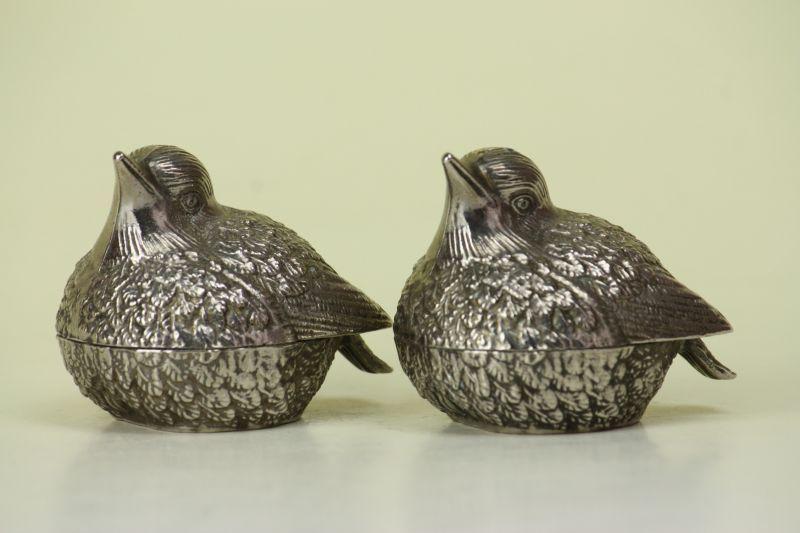 画像1: 北欧アンティーク/小鳥のS&P (1)