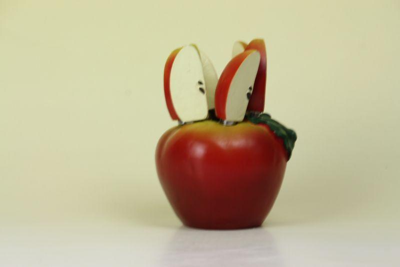 画像1: Retro Design Sweden/りんごのホルダー&ステンレスナイフ6本セット (1)