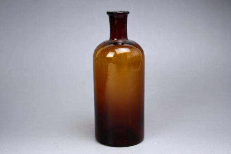画像1: 北欧ヴィンテージガラス/ベース(ボトル) (1)
