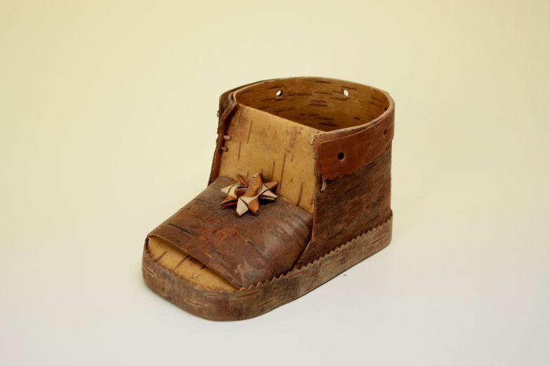 画像1: 北欧 白樺/木靴の小物入れ (1)