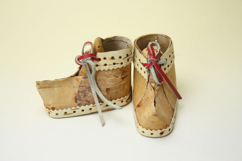 画像1: 北欧 白樺オブジェ/木靴 (1)