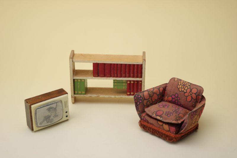 画像1: Lundbyドールハウス/ミニチュア家具 リビング3点セット (1)