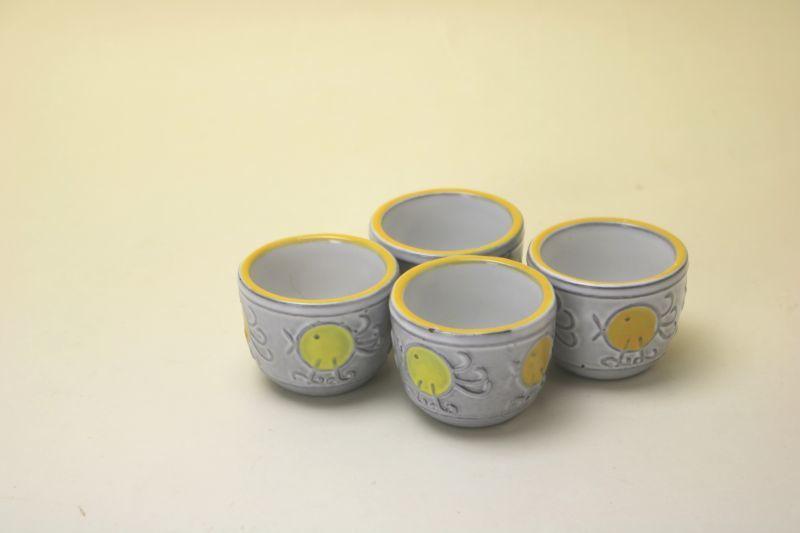 画像1: Upsala Ekeby Mari Simmulson Egg cup/マリ・シミュルソン エッグカップ4セット (1)