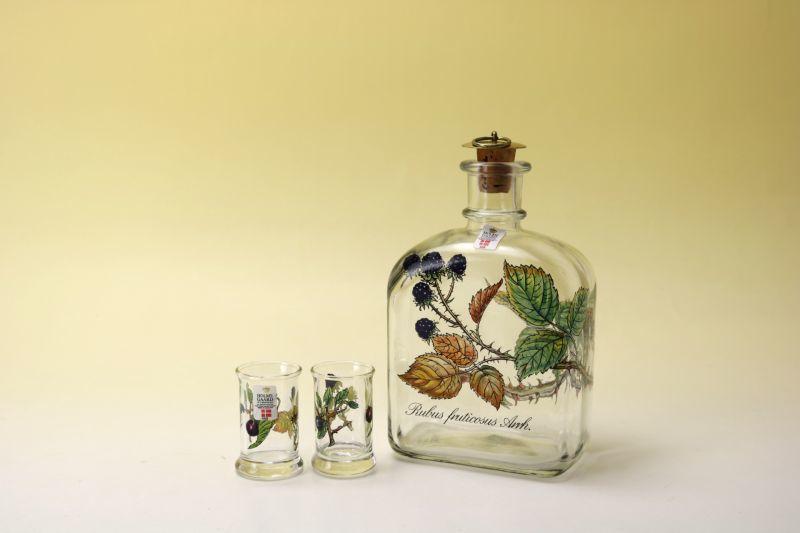 画像1: Holmegaard Decanter Karaff/ホルムガード ガラスボトル&グラス ラズベリー (1)