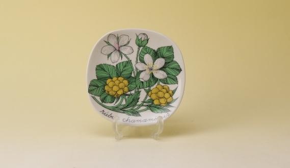 画像1: ARABIA Botanica Rubus Esteri Tomula/アラビア ボタニカ ウォールプレート キイチゴ  (1)