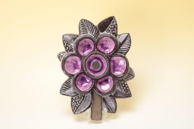 画像1: Upsala Ekeby Irma Yourstone Blomma/ウプサラエクビイ 花の壁掛け陶板  (1)