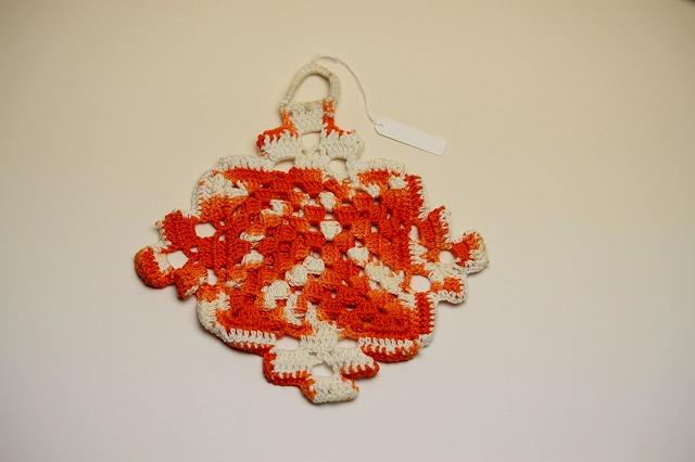 画像1: 北欧 手編みの鍋敷き/WO (1)