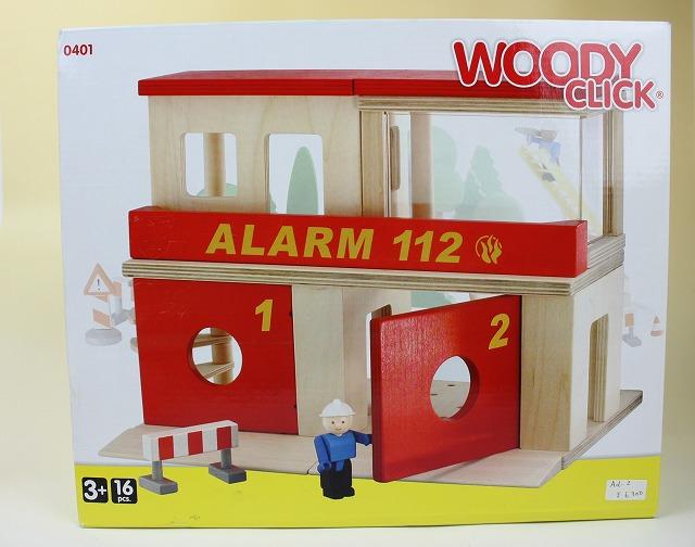 画像1: 北欧デンマークトーイ/WOODY CLICK 消防署 (1)